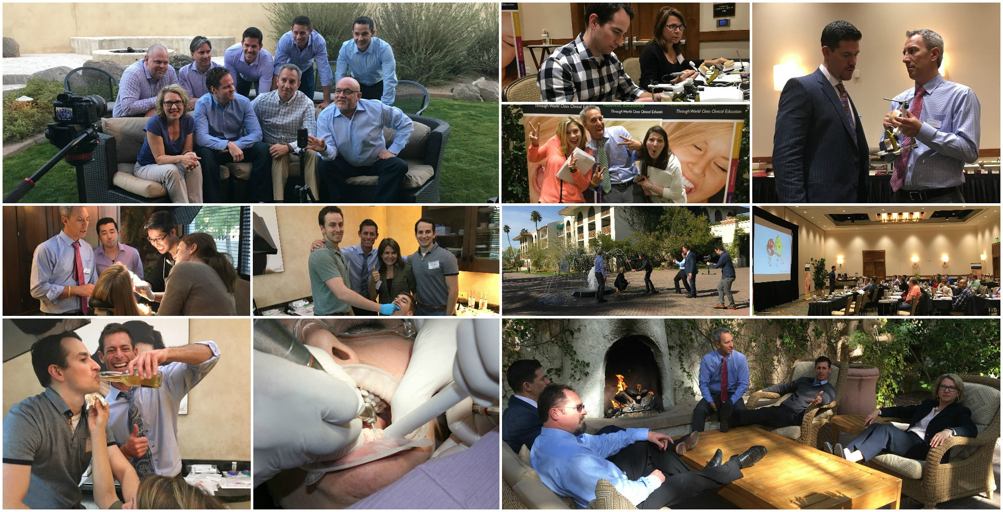 Dental Education Collage of Educators and Instructors Enjoying Learning