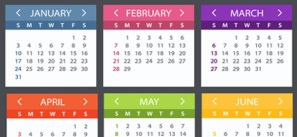 Dental Education Calendar Depicting Upcoming Courses
