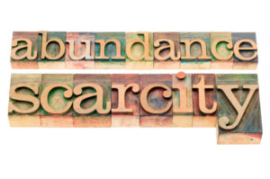 abundance and scarcity