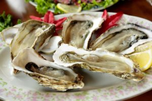 Enjoy oysters in Chicago.